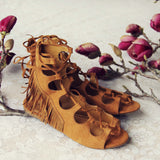 Taos Fringe Sandals: Alternate View #3