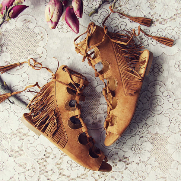 Taos Fringe Sandals: Featured Product Image