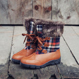 Tartan Flurries Snow Boots: Alternate View #1
