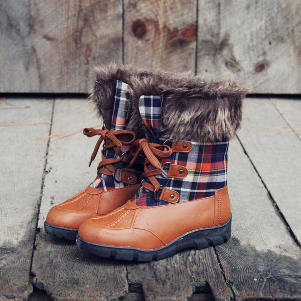 Tartan Flurries Snow Boots: Featured Product Image