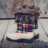 Tartan Flurries Snow Boots in Smoke: Alternate View #3
