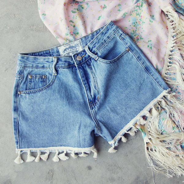 Spool Tassel Shorts: Featured Product Image