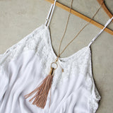 Farrah Tassel Necklace: Alternate View #2