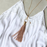 Farrah Tassel Necklace: Alternate View #1