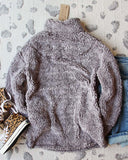 Teddy Cozy Pullover in Gray: Alternate View #4