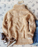 Teddy Cozy Pullover in Sand: Alternate View #3