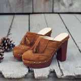 The 70's Tassel Wedges: Alternate View #1