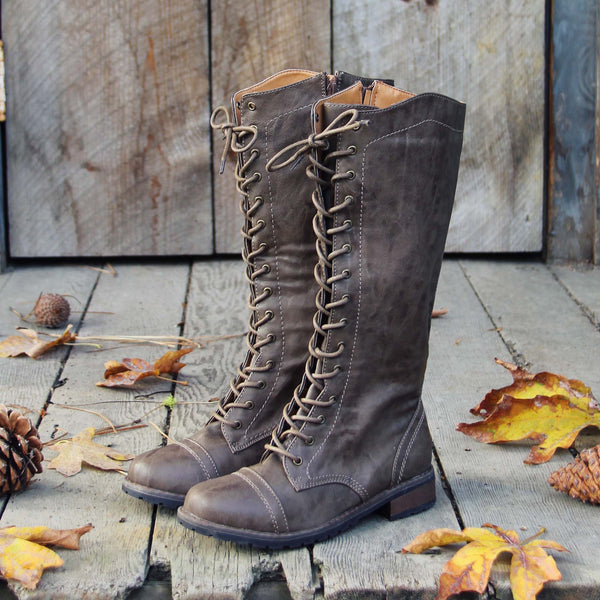 The Charlie Lace Up Boots: Featured Product Image