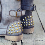 The Aberdeen Studded Combat Boots: Alternate View #2