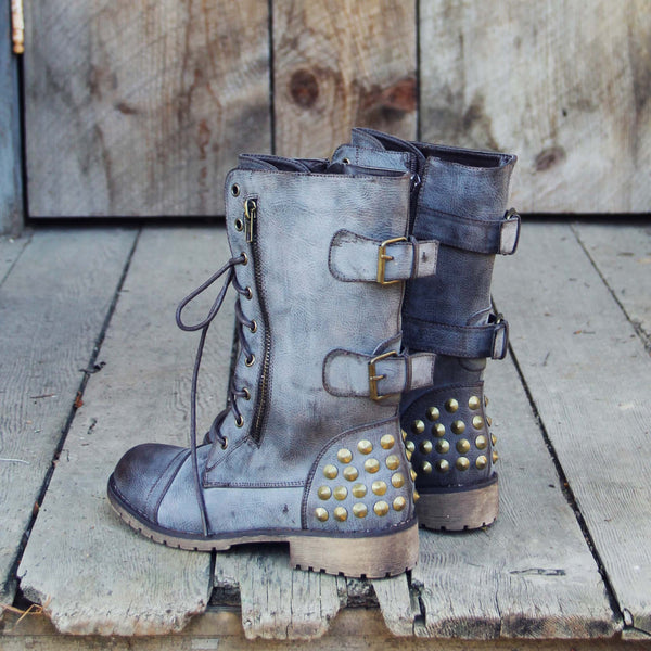 The Aberdeen Studded Combat Boots: Featured Product Image