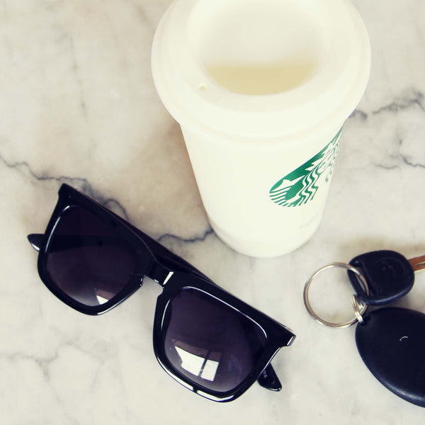 The Adison Sunnies in Black: Featured Product Image