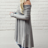 The Bailey Tunic Tee in Gray: Alternate View #2