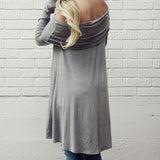 The Bailey Tunic Tee in Gray: Alternate View #3