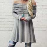 The Bailey Tunic Tee in Gray: Alternate View #1