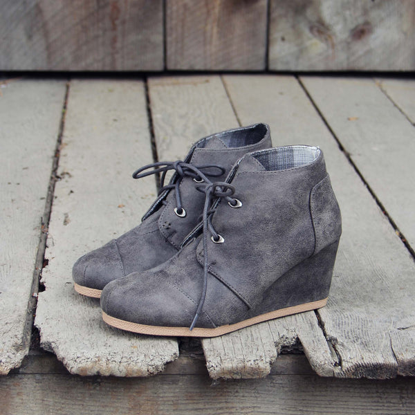 The Billie Plaid Booties in Gray: Featured Product Image