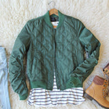 The Bomber Jacket in Olive: Alternate View #1