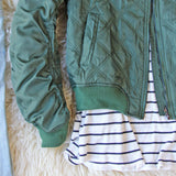 The Bomber Jacket in Olive: Alternate View #3