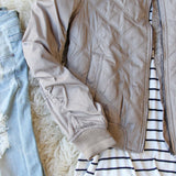 The Bomber Jacket in Taupe: Alternate View #3