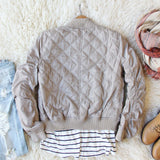The Bomber Jacket in Taupe: Alternate View #4