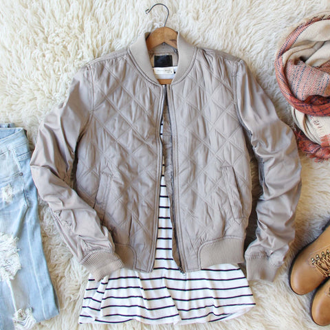 The Bomber Jacket in Taupe