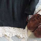 The Boyfriend Lace Sweater in Sage: Alternate View #3
