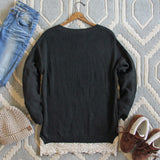 The Boyfriend Lace Sweater in Sage: Alternate View #4