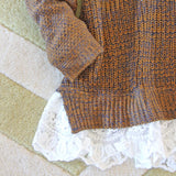 The Boyfriend Lace Sweater in Timber: Alternate View #4