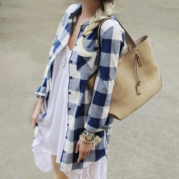 The Boyfriend Shirt Dress: Featured Product Image