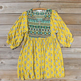 Cedar Grass Dress in Mustard: Alternate View #2