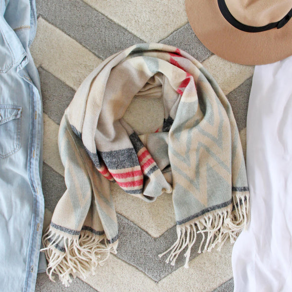 Chevron Fringe Blanket Scarf: Featured Product Image