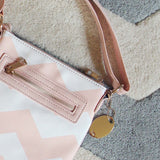 The Chevron Cross Body Tote in Pink: Alternate View #3