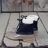 The Cozy Duck Boot in Black: Alternate View #3