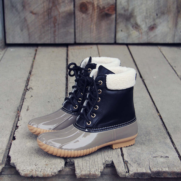 The Cozy Duck Boot in Black: Featured Product Image