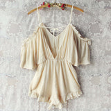 The Drifter Romper in Cream: Alternate View #4