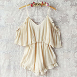 The Drifter Romper in Cream: Alternate View #1