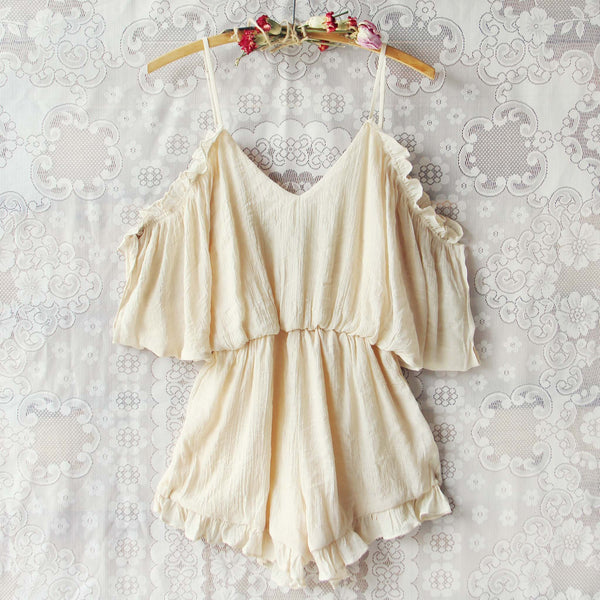 The Drifter Romper in Cream: Featured Product Image