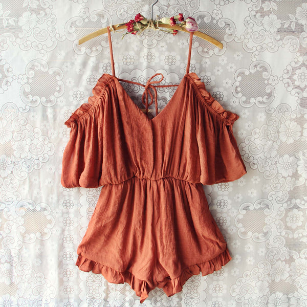 The Drifter Romper in Rust: Featured Product Image