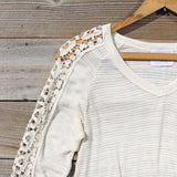 The Maddie Cozy Tee in Cream: Alternate View #2