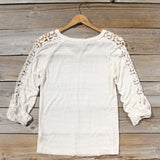 The Maddie Cozy Tee in Cream: Alternate View #4