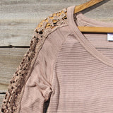 The Maddie Cozy Tee in Sand: Alternate View #2
