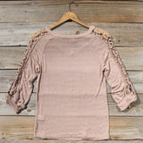 The Maddie Cozy Tee in Sand: Alternate View #4