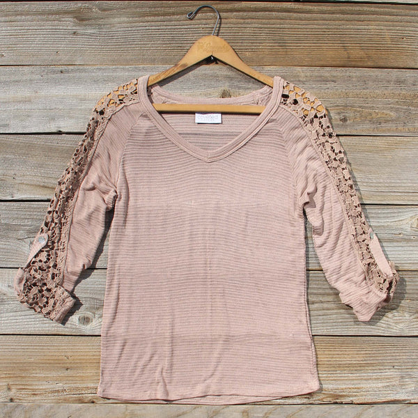 The Maddie Cozy Tee in Sand: Featured Product Image
