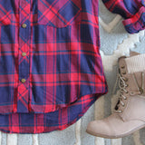The Everyday Plaid Top in Tartan: Alternate View #3