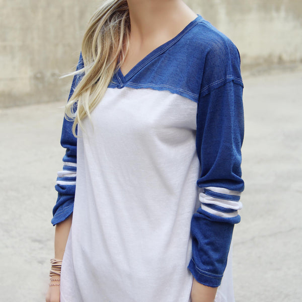 The Fenley Tee in Blue: Featured Product Image
