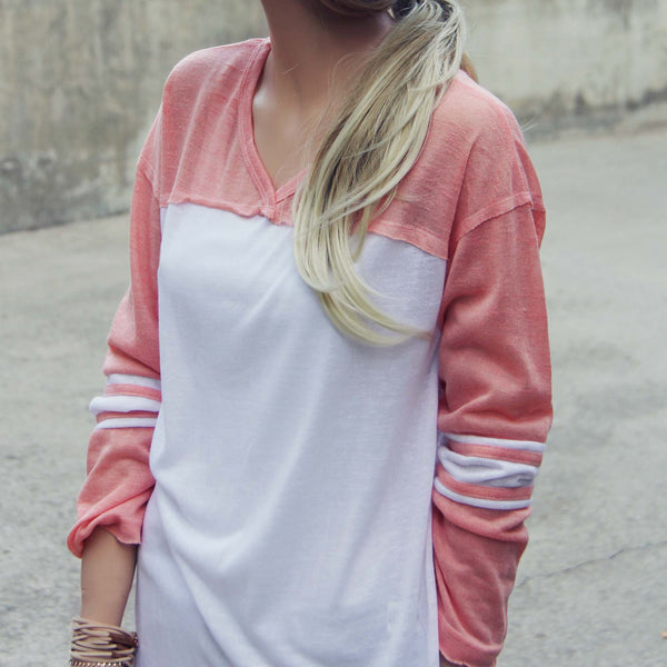 The Fenley Tee in Pink: Featured Product Image