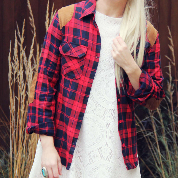 The Boyfriend Plaid Shirt: Featured Product Image
