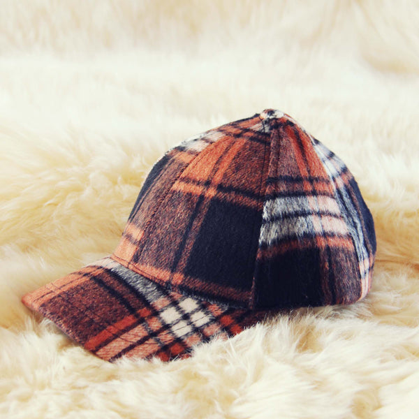 The Fireside Plaid Hat in Rust: Featured Product Image