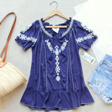 Harlow Embroidered Tunic in Navy: Alternate View #1