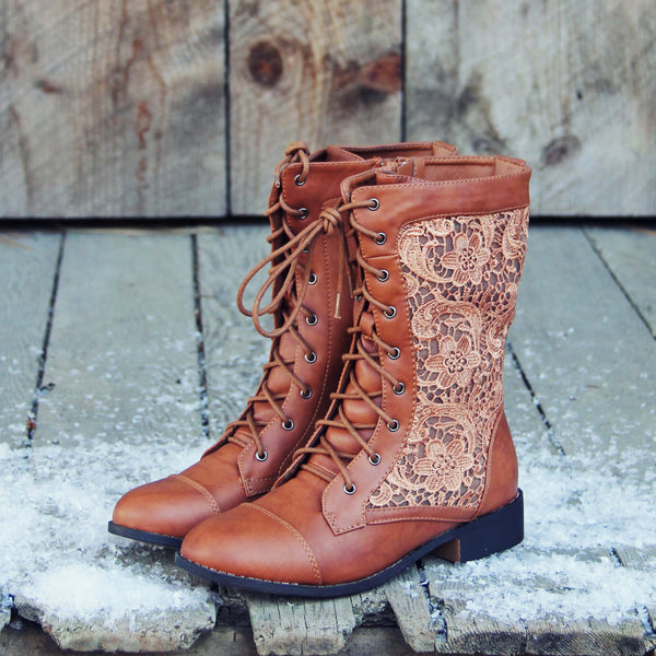 The Harper Lace Boots: Featured Product Image
