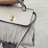 Honey Hush Fringe Tote in Cream: Alternate View #2